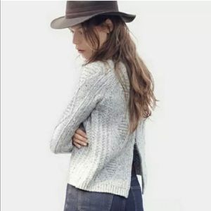MADEWELL Palisade Cable Knit Wool Sweater Size M